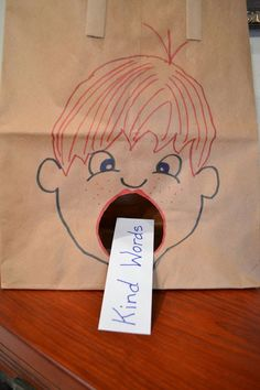 What Goes In Is What Comes Out This application was made from a brown grocery sack.  I drew a picture of a boy on the front and cut o...