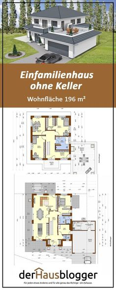 I have planned this design of a modern villa on a good 196 m² with a couple and their two older chil Architectural Design House Plans, Modern House Design, The Plan, How To Plan, Architecture Unique, Design Home App, Villa Design, Design Design, House Layouts