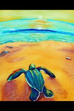 Sea Turtle Sea Turtle Painting Sea Turtle Art Baby Sea Turtles Save The