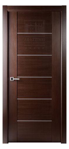Arazzinni Maximum 201 Interior Door In A Wenge Finish With 5 Aluminum Strips