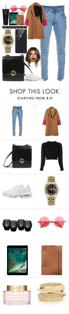 """""""*2208"""" by asoc10 ❤ liked on Polyvore featuring Vetements, MANGO, Gucci, Helmut Lang, NIKE, Rolex, Eichholtz, Retrò, Valentino and Shay"""