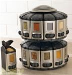 space-saver spice carousel with built-in measures - www.brylanehome.com