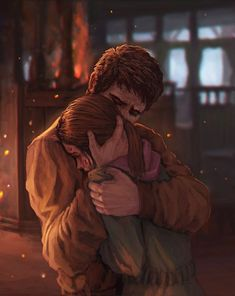 "Joel and Ellie ""Baby Girl"" The Last of Us.You can find Last of us and more on our website.Joel and Ellie ""Baby Girl"" The Last of Us. Cute Couple Drawings, Cute Couple Art, Anime Love Couple, Last Of Us, Story Inspiration, Character Inspiration, Character Art, Anime Couples, Cute Couples"
