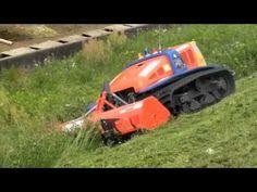 Radio-controlled Lawn Mower Works on Steep Slope