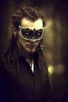 Darkside of Dreadlocks ~ Alternative Dread Fashion Mens Masquerade Mask, Halloween Masquerade, Masquerade Party, Piercings, Dread Hairstyles, Dreadlocks, Best Masks, Masked Man, Fantasy Male
