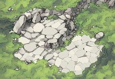 The Hillside Cave, a FREE battle map for D&D / Dungeons & Dragons, Pathfinder, Warhammer and other table top RPGs. Tags: cave, cliff, entrance, forest, hill, mountain, wild, wilderness