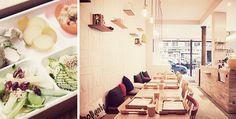 Chez Neobento, vous composez vous-même votre menu en choisissant les 6 petites portions qui vont garnir votre bento ->  12€ le bento et son thé froid  5 Rue des Filles du Calvaire 75003 Paris