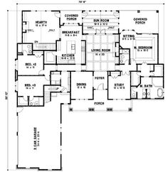Perfect Don Gardner Floorplan The Ambroise House Plan      Bungalow Style House Plans   Square Foot Home   Story  Bedroom and