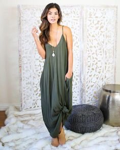 0e55fd71b9d0 Casual Knotted Maxi Dress