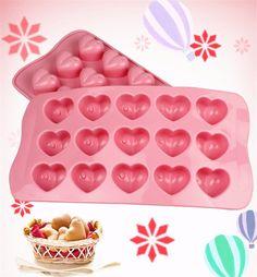 1 pc 15 furos coração forma molde de chocolate diy silicone Decoração do bolo Molde Geléia Gelo Molde de Cozimento do Presente do Amor de Chocolate moldes em Ramos de Home & Garden no AliExpress.com | Alibaba Group