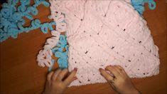 Узор#3 из Alize Puffy для детского пледа.(Ромбы)