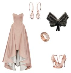 """""""Romantic Rose"""" by purplecc88criss ❤ liked on Polyvore featuring Zac Posen, Alexander McQueen, FOSSIL and Prada"""