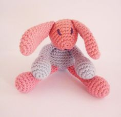 Ecofriendly baby toy BUNNY Stuffed crochet toy by WorldofKismomo, $39.50