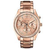 Caravelle New York Women's Rosetone  Crystal Bracelet Watch Cheap