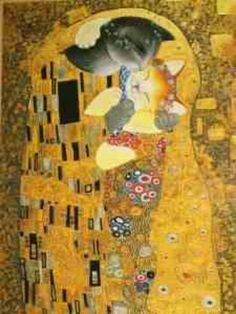 The kiss inspired by klimt