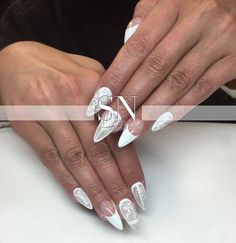 Sugar Effect  by Asia from Sn Studio  #nails #nail #white #french #sugar #effect #classy