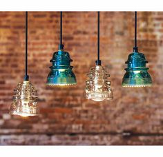 Lights made from reclaimed insulators