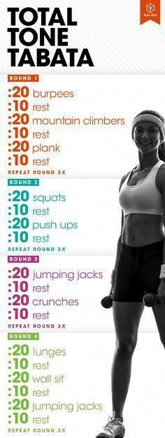 TABATA WORKOUT: Total body tabata workout routine for women to lose weight. , TABATA WORKOUT: Total body tabata workout routine for women to lose weight. Hiit Workout At Home, Fitness Workouts, At Home Workouts, Cardio Workouts, Fat Workout, Extreme Workouts, Workout Exercises, Stomach Exercises, Tummy Workout