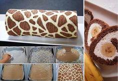 Zsiráf tekercs - kívül-belül csodás! - www.kiskegyed.hu Sweet Desserts, Dessert Recipes, Fondant, Biscuits, Deserts, Goodies, Food And Drink, Sweets, Healthy Recipes