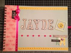 recently completed custom keepsake scrapbook for a 13 year old. Birthday gift ordered by the girl Mum