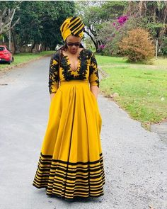 xhosa attire for African women - fashiong ⋆ South African Dresses, South African Traditional Dresses, African Dresses For Kids, Latest African Fashion Dresses, African Dresses For Women, African Print Dresses, African Attire, Traditional Outfits, Traditional Styles