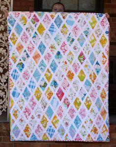 Vintage Sheet Quilt by sqragan, via Flickr