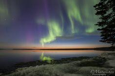 WASKESIU   The aurora borealis over Waskesiu Lake on May 17, 2013   Curtis Matwishyn of C. Matwishyn Photography