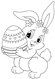 7 Best Easter Bunny Colouring Pages Images Coloring Books