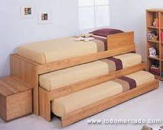 Resultado de imagen para camarote con cama nido madera