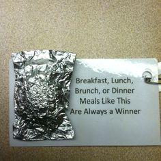 Foil Dinner SWAP