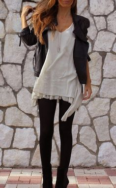 Dressed-down edginess. street style