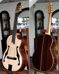 Bellucci Guitars, Brazilian Rosewood B, Hauser braced Maple top, Da Vinci Series, Special Cutaway