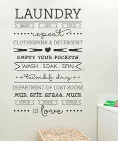 Look at this #zulilyfind! 'Laundry Is Love' Wall Decal by Wallquotes.com by Belvedere Designs #zulilyfinds