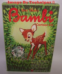 Bambi Cartoon Colorforms Adventure Play Set Unused Vintage #Colorforms