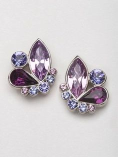 c79610819f23 Nina Toulouse Earring - Amethyst For Stephanie