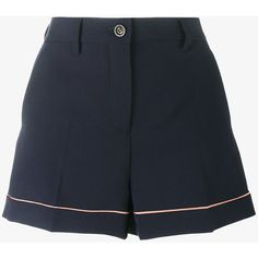 Miu Miu tailored shorts (865 BRL) ❤ liked on Polyvore featuring shorts, bottoms, cuffed shorts, miu miu, tailored shorts, summer shorts and faux-leather shorts