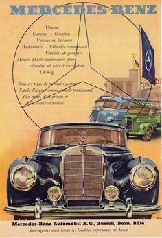 Mercedes 220, Mercedes Benz Trucks, Mercedes Benz Cars, Mercedes Benz Germany, Vintage Advertisements, Vintage Ads, Vintage Posters, Poster Cars, Motos Bmw