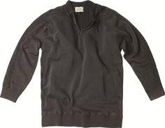 [img-9016-left-thickbox_default] Sweat allsize Gamme Greyes Casual composé de 100% Coton  Finition bord côtes zip sur col Doublé Renforts sur les épaules et les coudières
