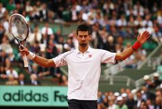 What is Novak Djokovic thinking in this picture taken at the 2012 French Open?