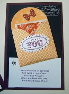 Jill's Card Creations: tea bag holder with cute saying
