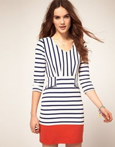 Dress by Vila. Love the different stripes.