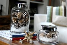 Christmas and Winter Home Decor - Easy to make table pieces for the season!