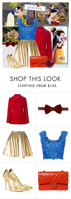 """Snow White"" by bklana ❤ liked on Polyvore featuring Dolce&Gabbana, Lanvin, 28.5, Monique Lhuillier, Oscar de la Renta, Chanel, women's clothing, women's fashion, women and female"