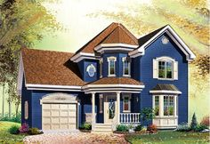 House Plan 65204   Country Victorian Plan with 1588 Sq. Ft., 3 Bedrooms, 2 Bathrooms, 1 Car Garage