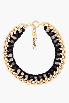 #YSL Statement Necklace# gold# black GG's tiny times ♥
