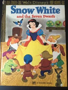 Vintage Walt Disney's Snow White and the Seven Dwarfs Hardcover Book 1972