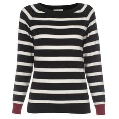 Paul Smith Knitwear - Black And White Stripe Crew Neck Jumper
