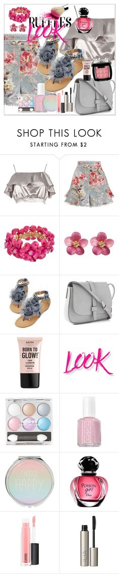 """Untitled #306"" by pesanjsp ❤ liked on Polyvore featuring River Island, Zimmermann, Gap, NYX, Essie, MAC Cosmetics, Ilia and ruffledtops"