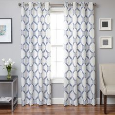 Yasmina Weave Grommet Top Panel | Overstock.com Shopping - The Best Deals on Curtains