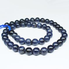 Blue Sapphire Smooth Polished Round Ball Beads Strand – Jewels Exports